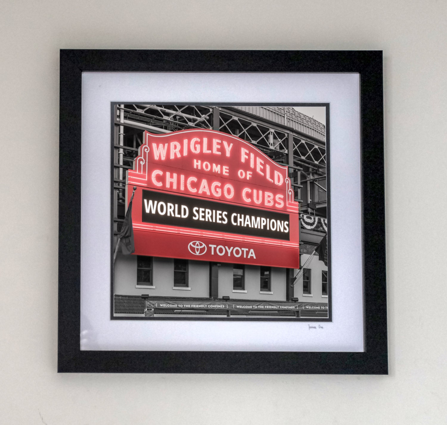 Chicago Cubs World Series Frame 14x18 18x18 18x24