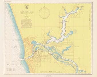 Lake Michigan - Grand Haven Map 1947