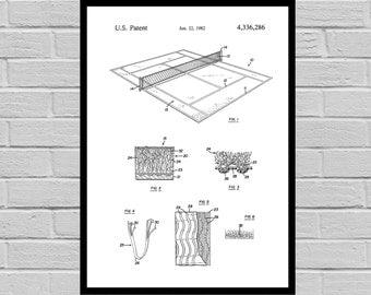 Tennis Court Patent, Tennis Court Poster, Tennis Court Print, Tennis Court Art, Tennis Court Decor, Tennis Court Blueprint, Tennis