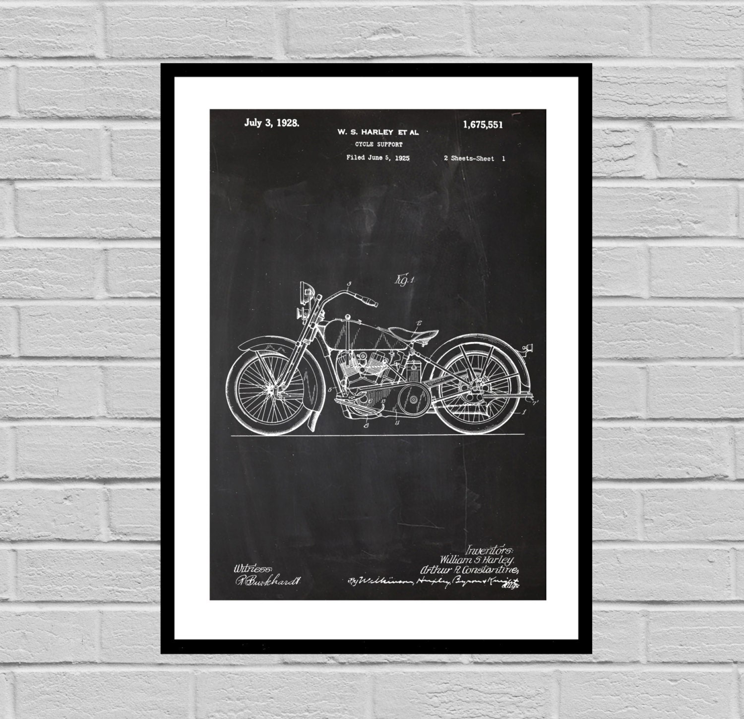 Harley Davidson Motorcycle Blueprint Patent Poster, Wall Art Poster, Harley  Motorcycle Print, Wall Art Poster, Patentprints, Harley Art
