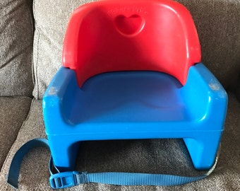Vintage Fisher Price Grow With Me kids toddler child size booster seat chair, 1990, 9918