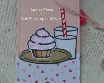 Set Of 6 Handmade Birthday Tags, Cupcake Favor Tags, Labels