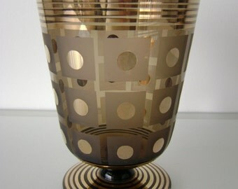 Art Deco - Brown gilded glass vase