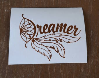 Dream catcher decal, tumbler decal, yeti decal,laptop decal, car decal,window decal,truck decal, permanent vinyl decal,dreamcatcher sticker