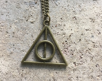 Bronze Pendant Harry Potter Inspired Necklace