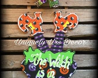 Halloween Witch Door Hanger, Door Hanger, Halloween Door Hanger, witch Door Hanger