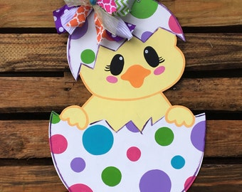 Chick Door Hanger, Easter Door Hanger, Door Hanger, Egg Door Hanger