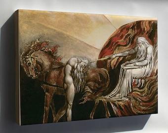 Canvas 24x36; God Judging Adam Blake 1795