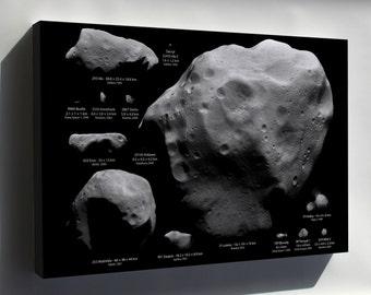 Canvas 24x36; Largest Asteroids