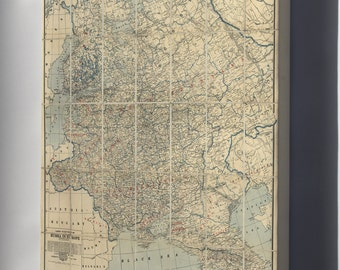 Canvas 24x36; Map Of Western Russia 1918