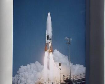 Canvas 24x36; Atlas Missile Launch