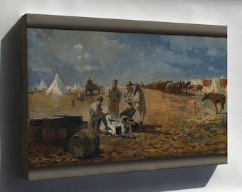 Canvas 24x36; A Rainy Day In Camp By Winslow Homer 1871.Jpeg_Files