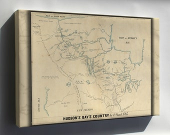Canvas 24x36; Map Of Hudson'S Bay'S Country Canada 1850