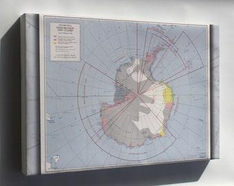 Canvas 24x36; Cia Map Of Antarctica. 1956