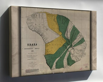 Canvas 16x24; Map Of Lanai  Hawaii 1900