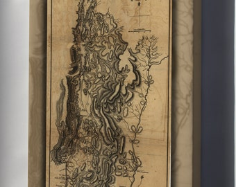 Canvas 16x24; Map Of Burgoyne'S Invasion, 1777 Revolutionary War