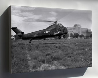 Canvas 16x24; U.S. Army Sikorsky H-34A-Si Choctaw 1956 H-34 Helicopter