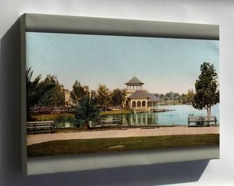 Canvas 16x24; West Side Park, Los Angeles, California, 1902
