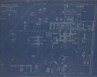 16x24 Poster; Map Of Walter Reed General Hospital, Washington, D.C., Post Map 1935