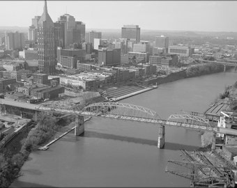 16x24 Poster; Aerial View Of Shelby Street Bridge 01