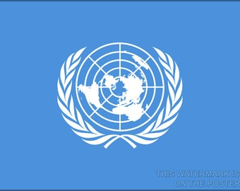 16x24 Poster; Flag Of The United Nations
