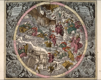 16x24 Poster; Northern Constellations 1708 Zodiac Astrology P5