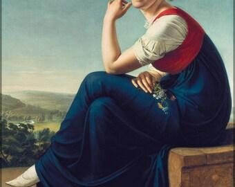 16x24 Poster; Portrait Of Heinrike Dannecker Christian Gottlieb Schick