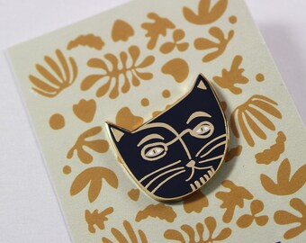 Henri Catisse cat Enamel Pin