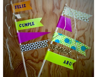 Cake topper - double banner