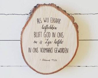 Your weddingverse on wood
