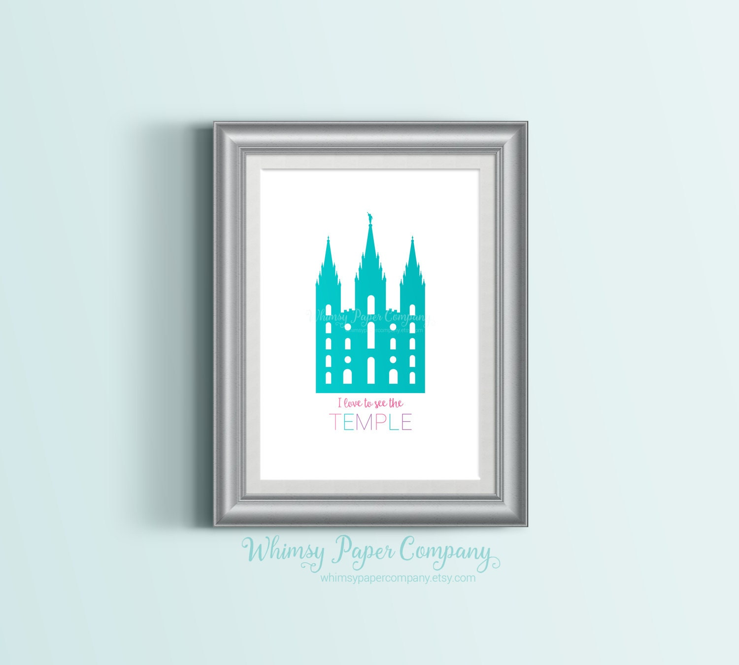 Nurseries in salt lake city - Salt Lake City Temple Home Decor Art Print Purple Pink Aqua Digital Printable Artwork Wall Decor Nursery Baby Kids Poster Sign Lds Primary