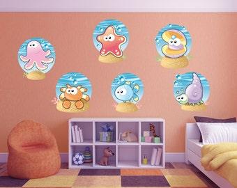 Underwater Sea Creatures Wall Stickers - WDDASA10046