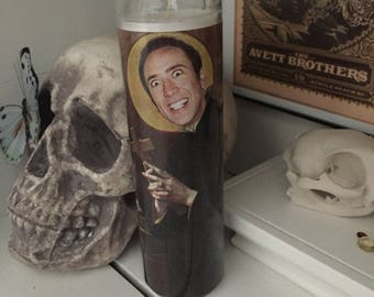 St Nic Cage prayer Candle