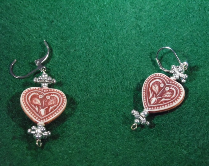 Stone Heart Earrings II