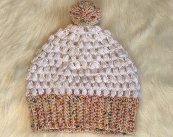 Slouchy funfetti hat