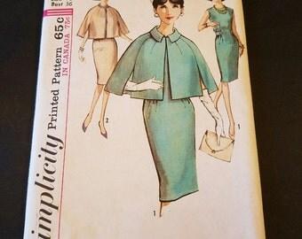 Vintage  1964 simplicity size 16 dress cape pattern size 16 uncut VP1