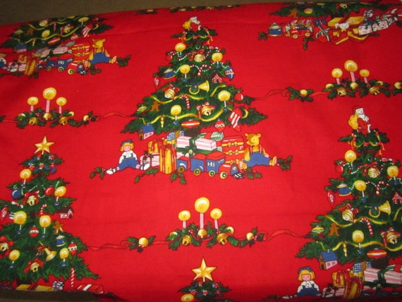 Alexander henry christmas tree red background bthy out of for Where can i buy a red christmas tree