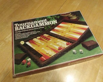 Tournament Backgammon - 1976 - Milton Bradley - Board Game