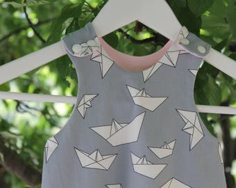 Salopette origami 0- 3 mesi