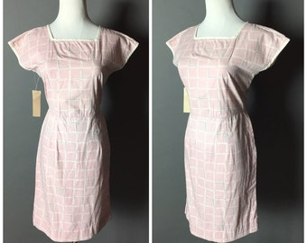 SALE SALE SALE VIntage 60s dress / 1960s dress / pink dress / wiggle dress / day dress / party dress / M5174