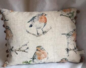 Red Robin Cushion, Robin, Robins, Cushion, Feather Cushion
