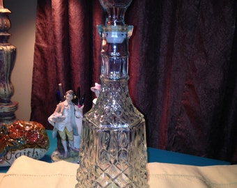 Tall Glass Liquar Decanter