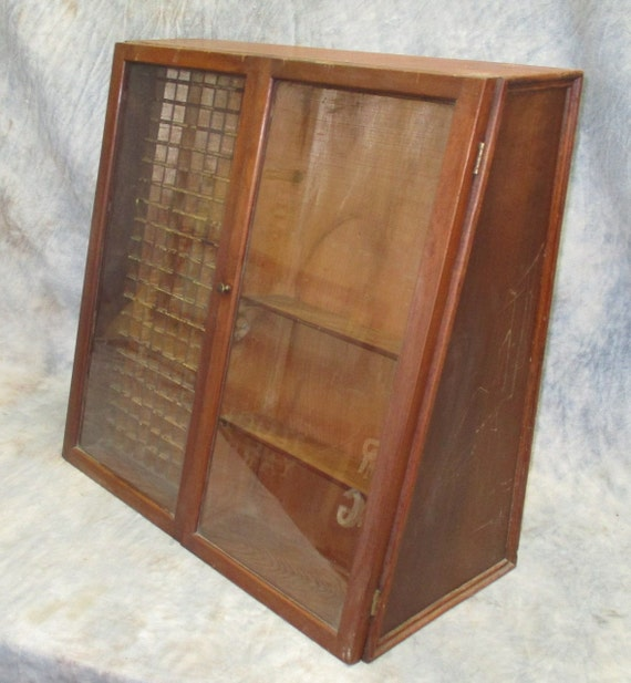 Country Store Wood Glass Countertop Display Case By