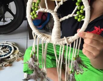 Dreamcatcher Indian jewelery Deco super Dreamcatcher LIVING TREE new 2017