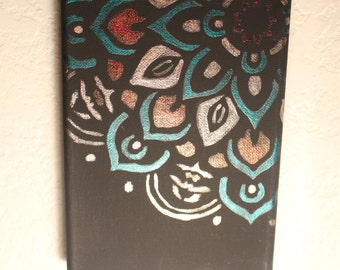 "Multicolored5""x 7"" Mandala Painting"