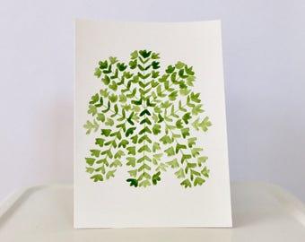 "Mexican embroidery watercolor - ""DORA"""