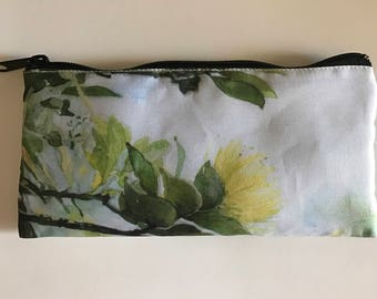 Pencil Case, Yellow Lehua