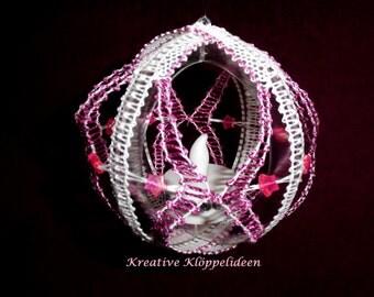 Decorative white pink