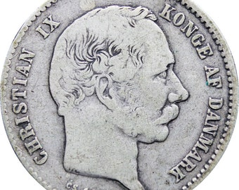 1875 CS Denmark Christian IX One Krone