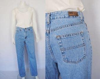 90s high waist jeans, vintage light denim mom jeans -- slim fit, super soft, straight leg, 90s jeans, soft denim, 1990s 90s clothing
